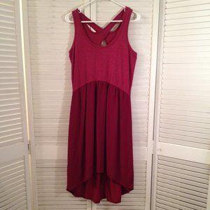 Left Of Center Anthro S Raspberry-Pink Hi-Lo Dress